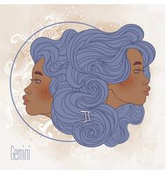 Gemini astrological sign vector