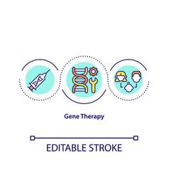 Gene therapy concept icon vector