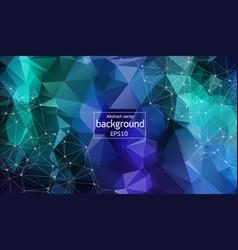 geometric multi blue polygonal background vector image