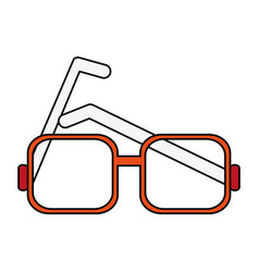 glasses square frame icon image vector image