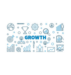 Growth concept creative outline vector