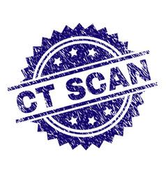 Grunge textured ct scan stamp seal vector