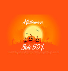 halloween template banner vector image
