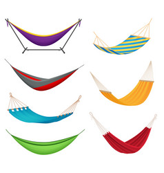 hammock set realistic vector image