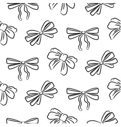 hand drawn bow ties seamless pattern black and vector image