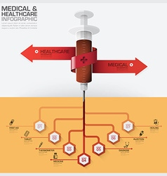 Healthcare And Medical Infographic With Bind vector