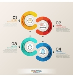 Infographics template circle concept vector