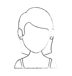 isolated women face vector image