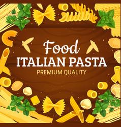 italian pasta frame of macaroni vector image