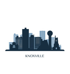 knoxville skyline monochrome silhouette vector image