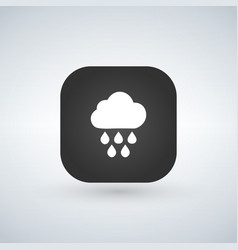 light rain weather icon over application button vector image