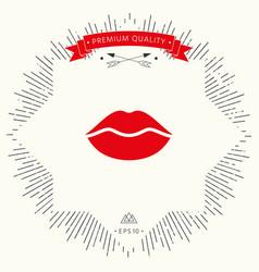 lips symbol icon vector image