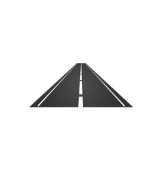 logo of a minimalistic road with a roadside and a vector image
