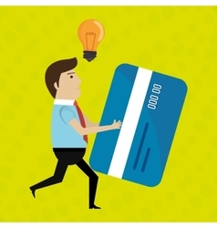 man credit card idea vector image