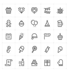 mini icon set party and celebrate icon vector image