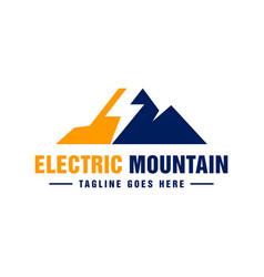 Modern electric mountain logo vector
