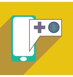 Modern flat icon with shadow Mobile application vector