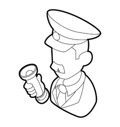 Museum security guard icon outline style vector