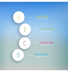 Numbered circles infographic on blurred background vector image