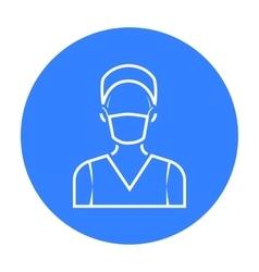 Nurse icon black Single medicine icon from the vector