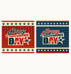 patriotic label happy independence day vector image