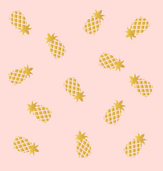pink with pineapple background vector image