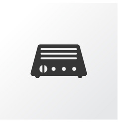 radio icon symbol premium quality isolated fm vector image