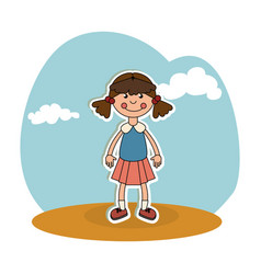 ragdoll kids toy isolated icon vector image