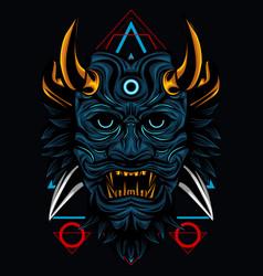 Satan knife sacred geometry vector