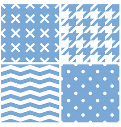 seamless pattern set with white polka dots vector image