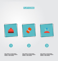 Set of handcraft icons flat style symbols with vector
