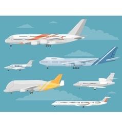 Set of Variety Aircraft Flat Style vector image vector image
