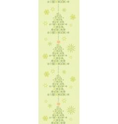 Snowflake Christmas Trees Vertical Seamless vector image