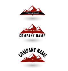 three mountain logo vector image