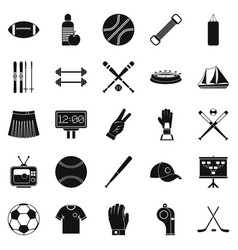 Trained person icons set simple style vector