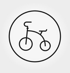 Tricycle universal icon editable thin vector