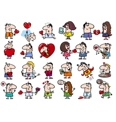 valentines people set vector image