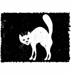 Very malicious cat vector
