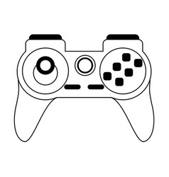 Videogame gamepad symbol isolated in black and vector