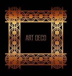 Vintage geometric shape art deco retro frame vector