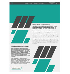 website layout template vector image