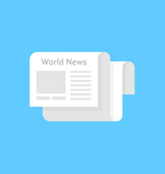 white newspaper icon like world news vector image