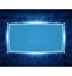 Abstract virtual space with screen vector image vector image
