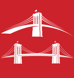 brooklyn red vector image vector image