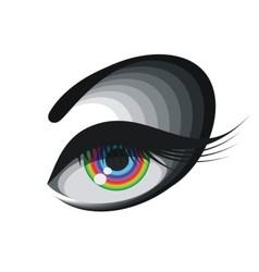 Coloured eye vector image