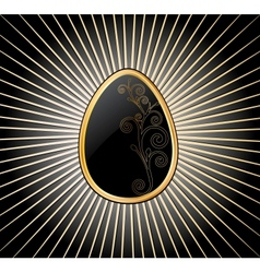 Easter Egg in black over vector image vector image
