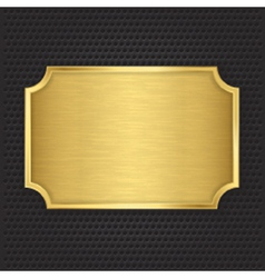 Gold texture plate vector image vector image