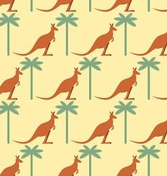 Kangaroo and Palma seamless pattern Australian vector image