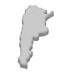 map of argentina icon monochrome vector image vector image