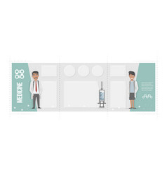 medical brochure characters of doctors and vector image